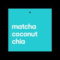 "Matcha Coconut Chia 5"" x 5"""