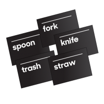 Cutlery Signs Set